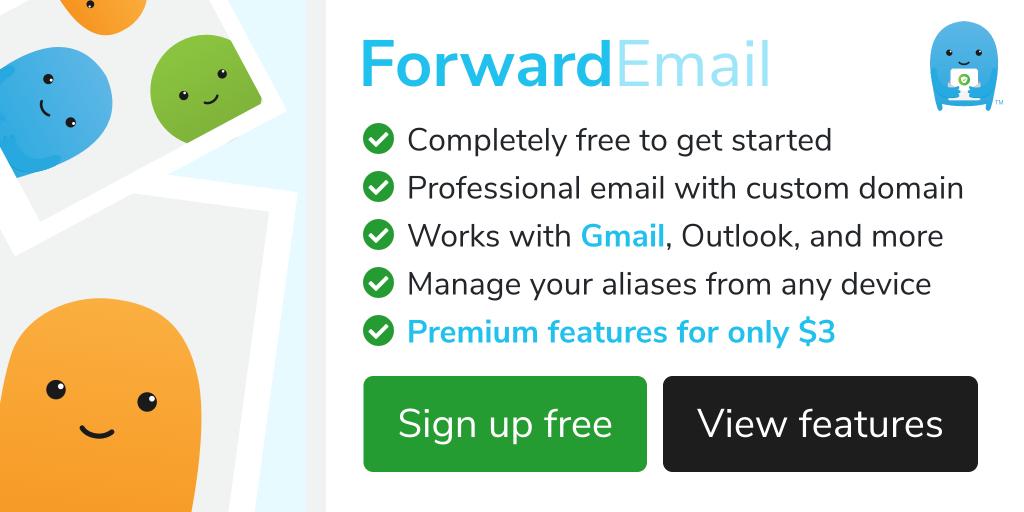 forwardemail - ตั้งชื่อเมลสวยๆ ใช้รับเมลด้วย forwardemail.net